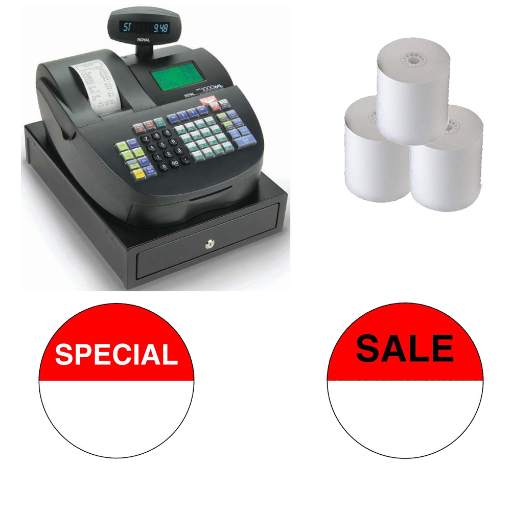 Refurbished Royal 29043X Alpha 1000ML Cash Register Refurbished Bundle