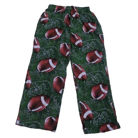 Fun Boxers Mens Sports Fun Prints Pajama & Lounge Pants, Football Plays Green, Size: Small (Fun Onesies For Men)