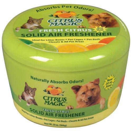 Citrus Magic Pet Odor Absorbing Solid Air Freshener Fresh Citrus, 20-Ounce