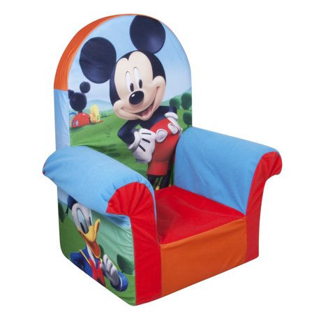 Marshmallow Furniture  Childrens Foam High Back Chair  Disney Mickey Mouse Clubhouse  By Spin Master