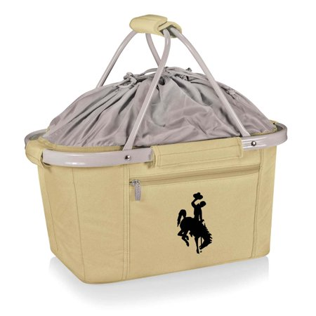 Metro Embroidered Basket in Beige - University of Wyoming Cowboys