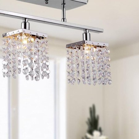 Brooksdale Mini Chandelier - Mini Crystal Ceiling Light For Living Room Modern Indoor Pendant Lamp 3 Heads Chandelier Home Decorative Lamps