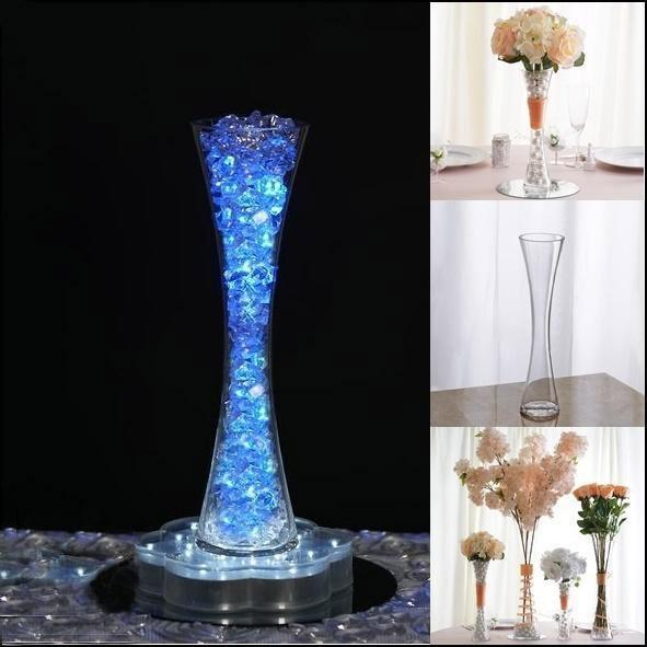 "Walmart Cm: Efavormart 12"" Tall Clear Hourglass Shaped Floral Vase"
