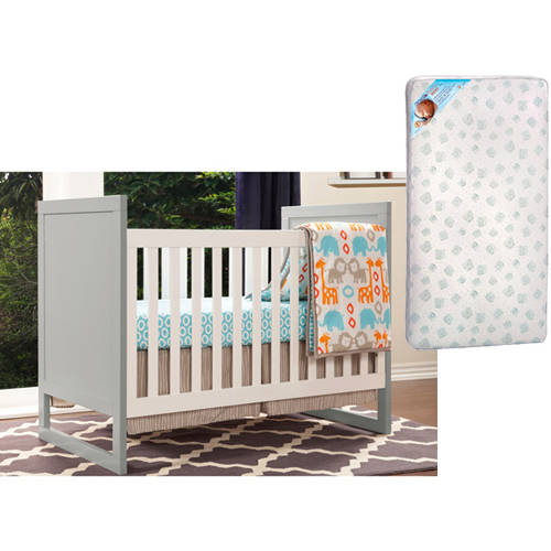 Baby Mod - Modena 3-in-1 Fixed Side Crib and Mattress Value Bundle