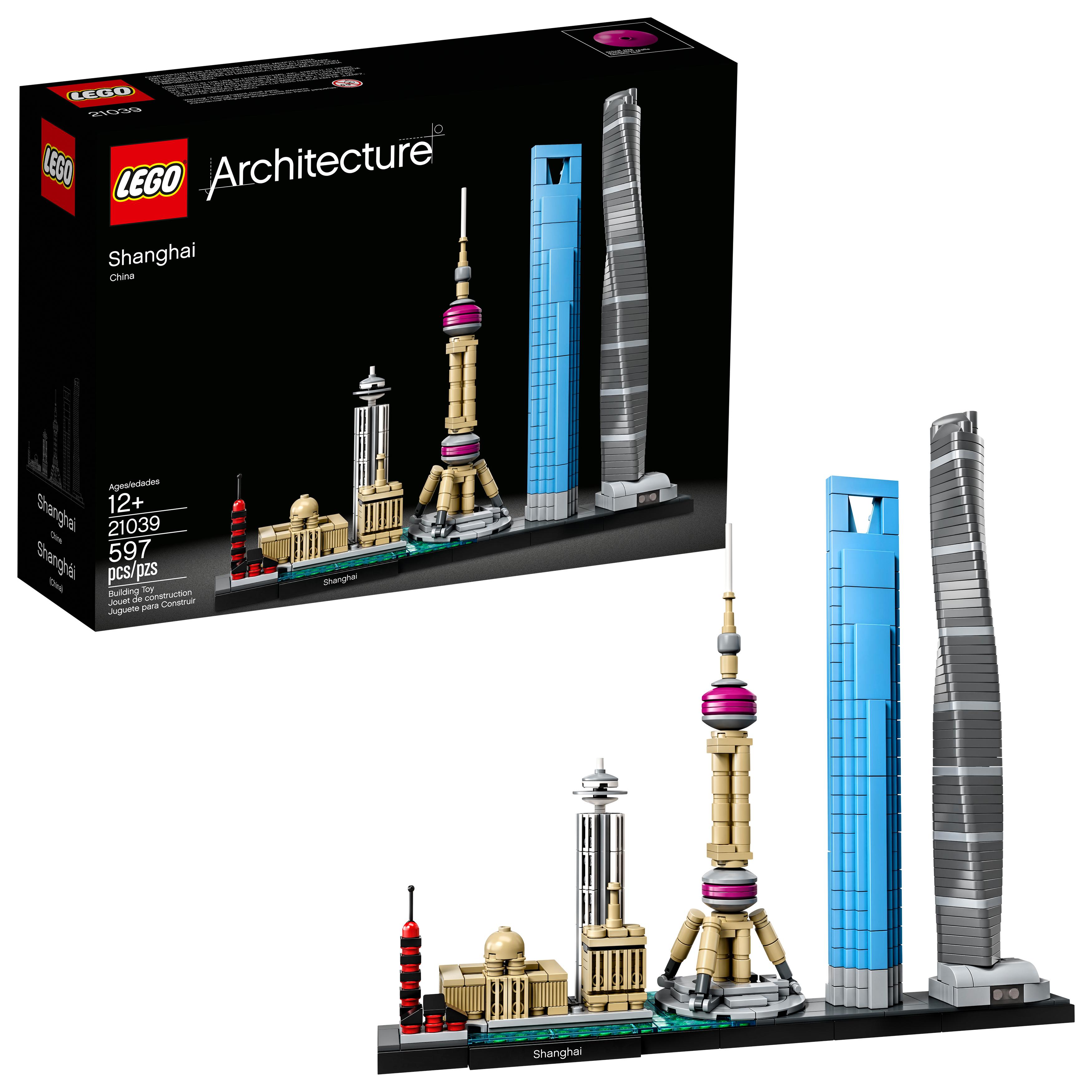 LEGO Architecture Shanghai 21039 Building Set (597 Pieces)