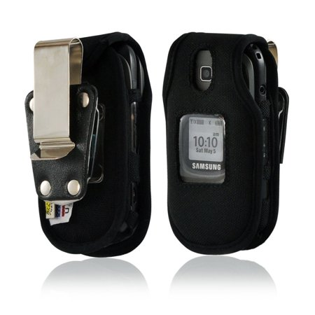 Turtleback Case For Samsung U365 Gusto 2 Heavy Duty Flip Phone Case With Rotating Metal Belt Clip  Made In Usa