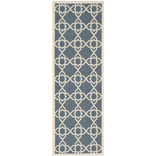 Safavieh Courtyard Navy/Beige Outdoor Area Rug