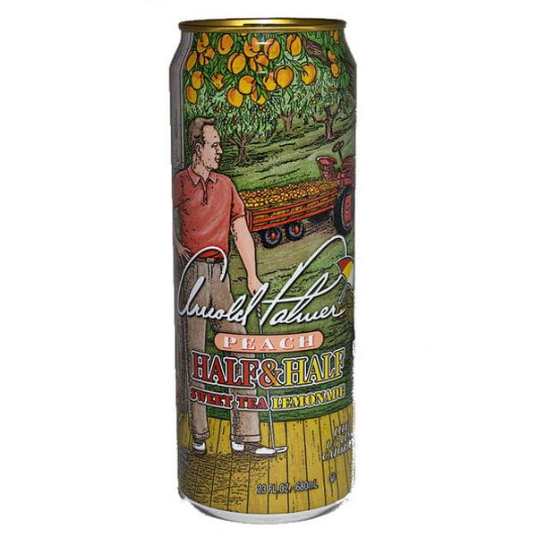 Arizona Tea Arnold Palmer Peach 23 Oz Big Cans Pack of 24