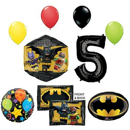 The Lego Batman Movie 5th Birthday Party Supplies and Balloon Decorations - Batman Balloon