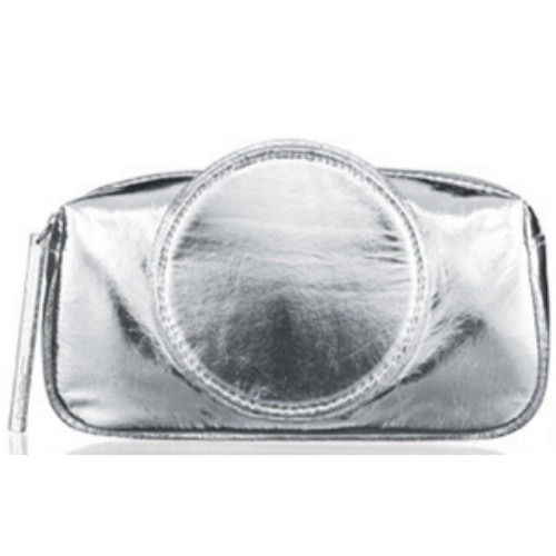 MAC Cosmetics Iced Delights Collection Silver Makeup Cosmetic Travel Bag