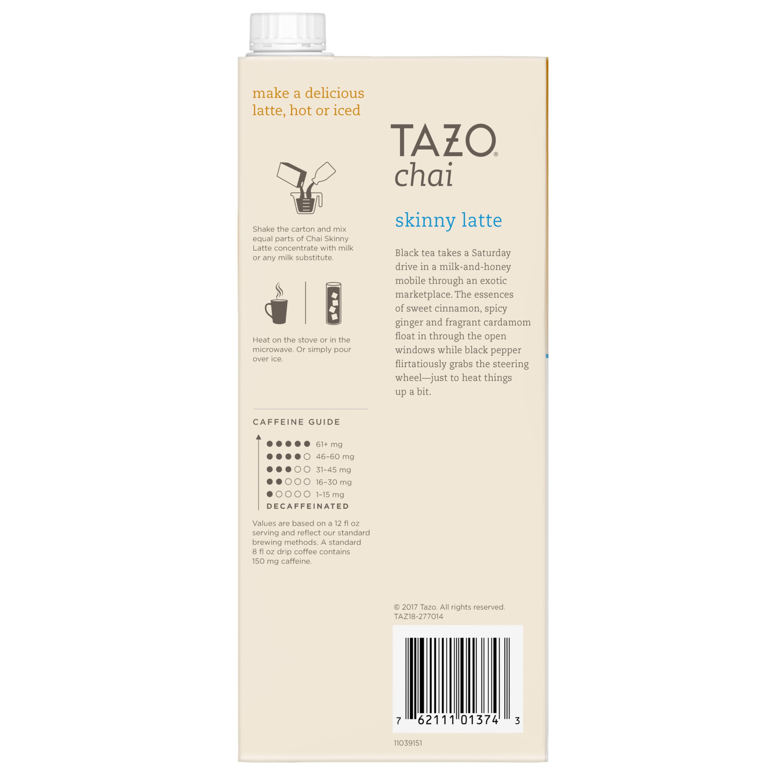 Tazo, Skinny Chai Latte Black Tea, Tea