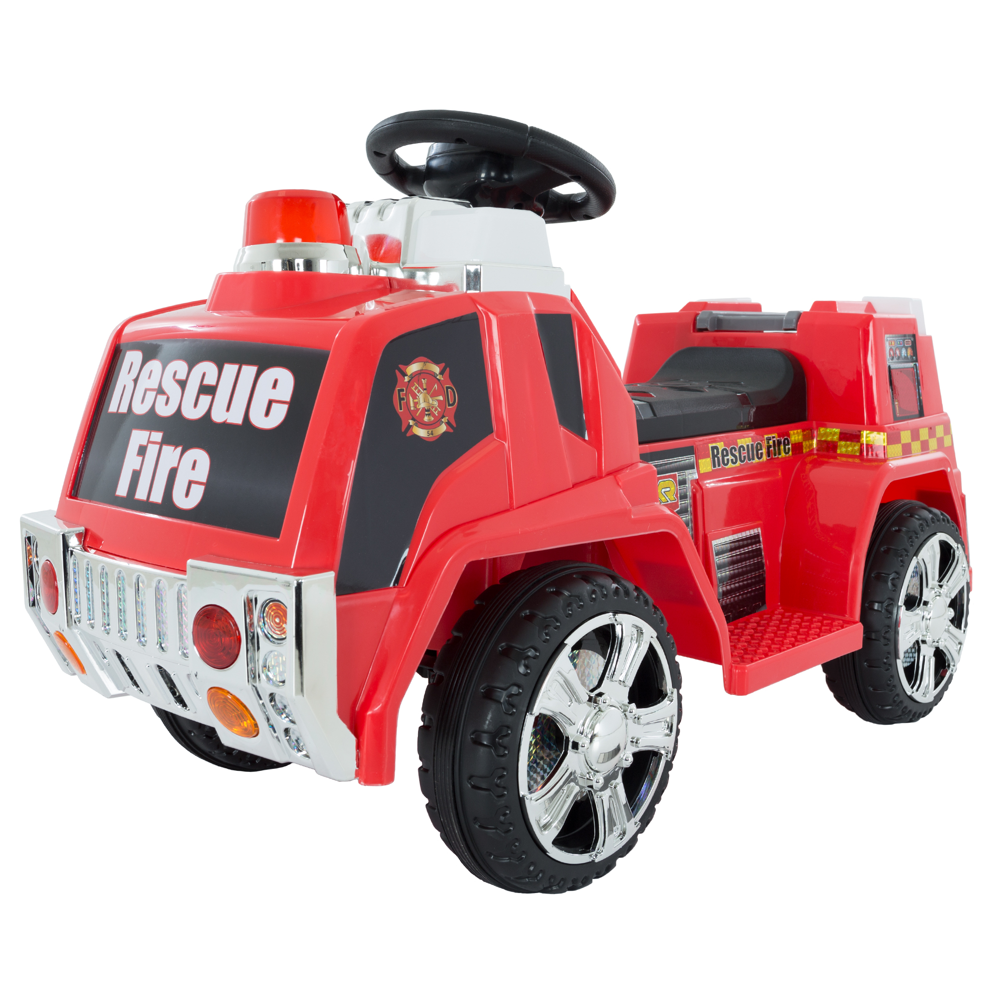 Ride on Toy, Fire Truck for Kids, Battery Powered Ride on Toy by Hey! Play! - Toys for Boys and Girls, Toddler - 5 Years Old