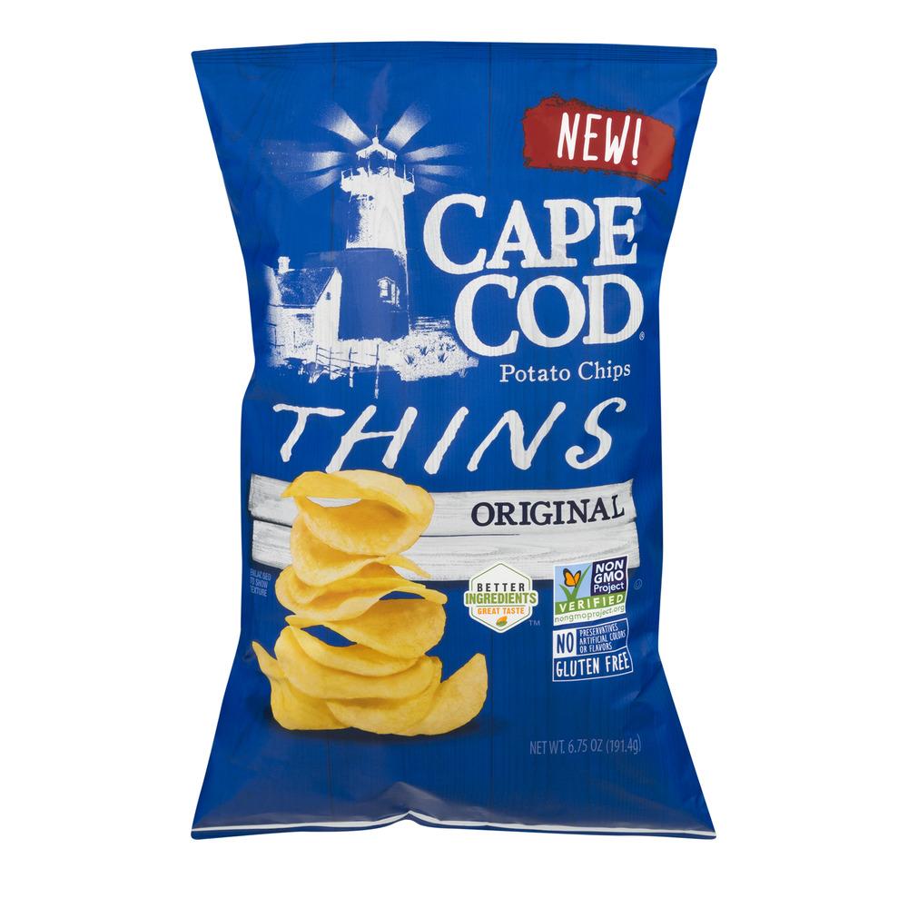 Cape Cod Potato Chips Thins Original, 6.75 OZ by Cape Cod Potato Chips