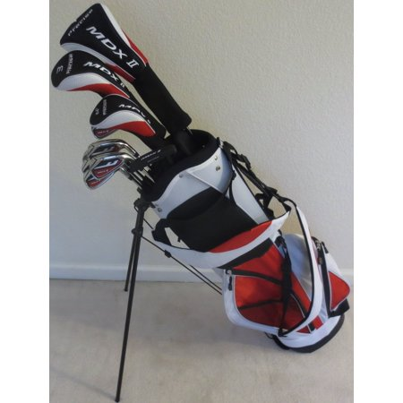 Tall Mens Golf Set Complete Driver, Fairway Wood, Hybrid, Irons, Putter, Stand Bag Fits 6ft to 6ft 6in Tall