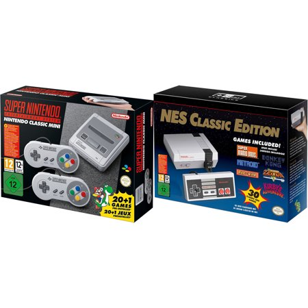 SNES and NES Nintendo Entertainment System Classic Bundle Region Free