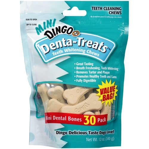 Dingo: Teeth Whitening Chews Mini Dingo Denta-Treats For Dogs, 12 oz
