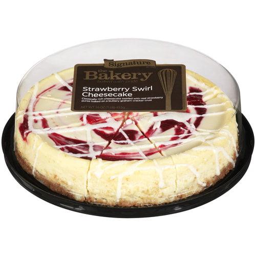 The Bakery At Walmart Signature Strawberry Swirl Cheesecake, 16 oz ...