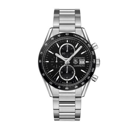 Tag Heuer Carrera Black Dial Stainless Steel Men's Watch CV201AL.BA0723