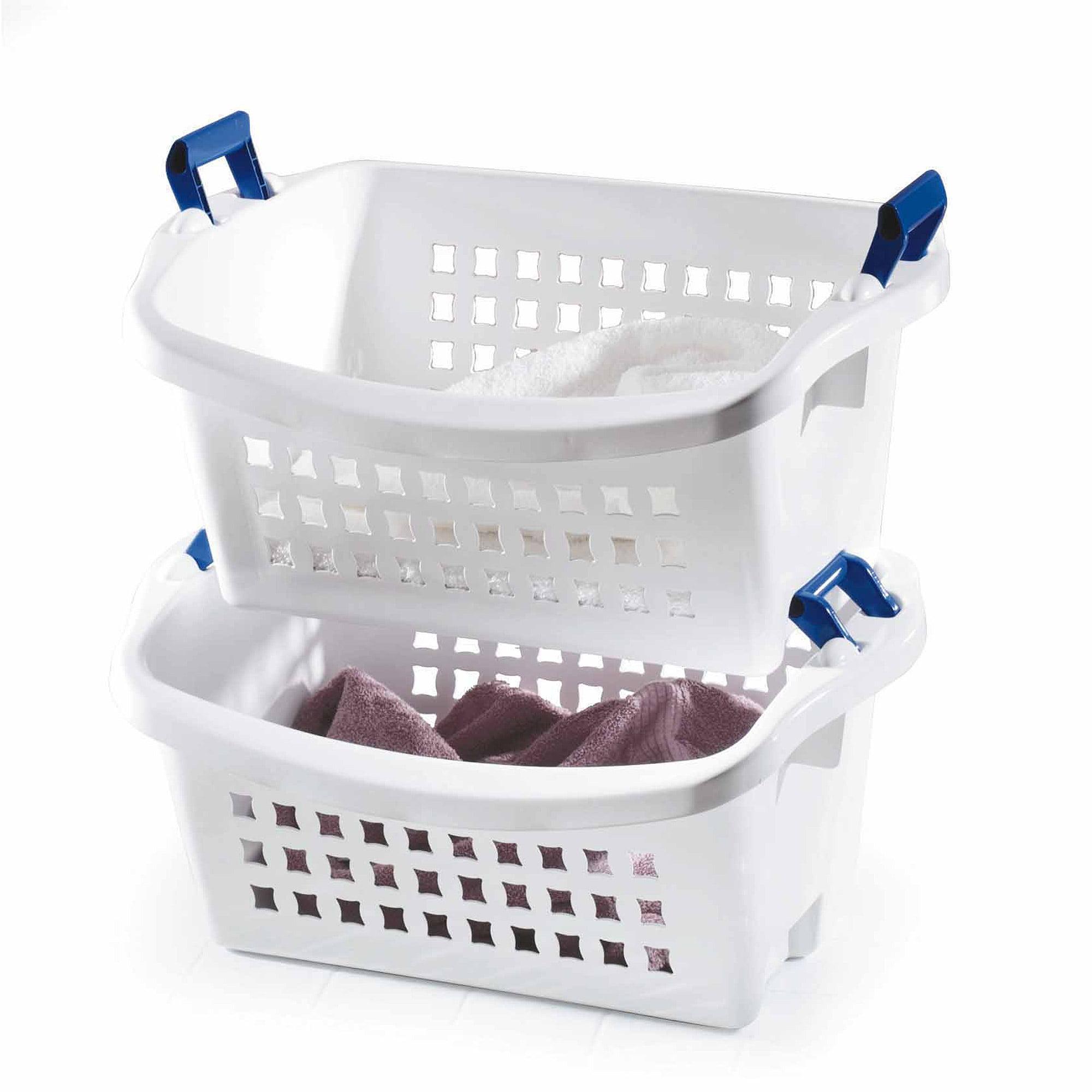 Rubbermaid 1.6 BU Stack-n-Sort Laundry Basket, White (1 Piece)