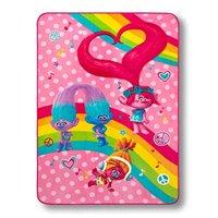 "Trolls Plush Microfiber Twin Bed or Toddler Blanket, 62""x90"""