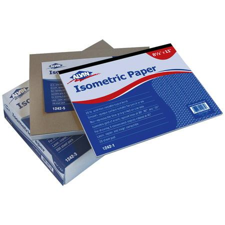 Alvin Isometric Paper 100-Sheet Pack 8.5