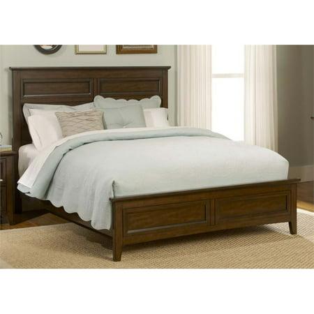 Liberty Furniture Laurel Creek Queen Panel Bed in Cinnamon