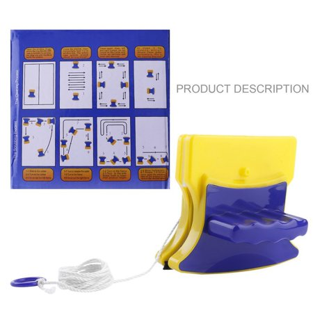 Fancyy Magnetic Window Double Side Glass Wiper Cleaner Cleaning Brush Pad Scraper Yellow & blue - image 8 de 13
