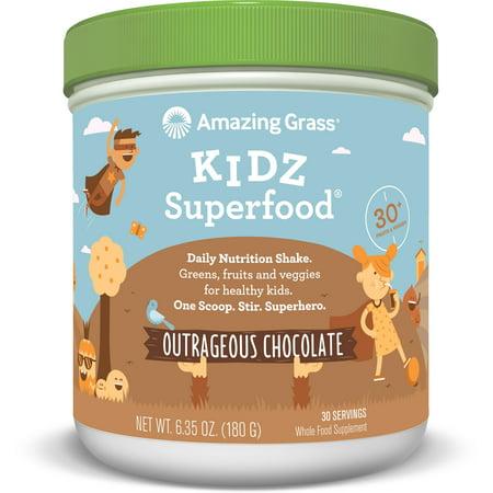 Amazing Grass Kidz Superfood Powder, Chocolate, 30 Servings