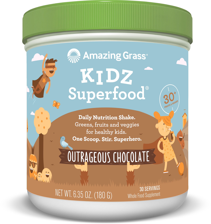 Amazing Grass Kidz Superfood Powder (Choose Size & Flavor) - Chocolate, 30 Servings