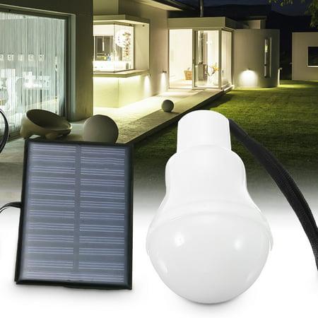 Solar powered led light bulb upgrades portable 120lm solar - Solar air heater portable interior exterior ...
