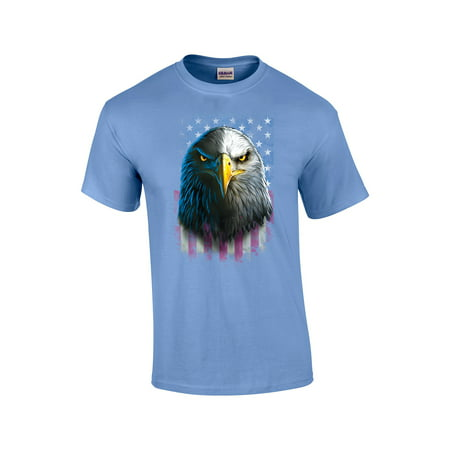 Bald Eagle Staring With American Flag T-Shirt - Eagle Boys Coupon Code