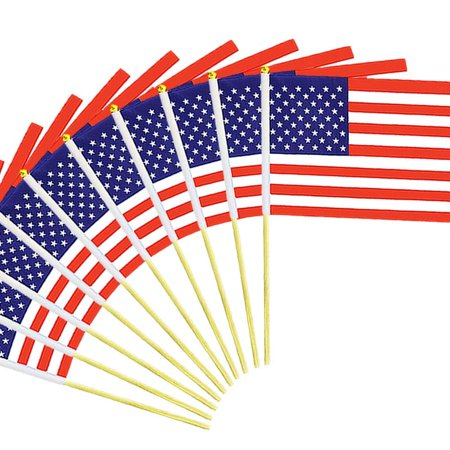 Small Country Flags (12 Pack of Us Small American Flags - 11x17