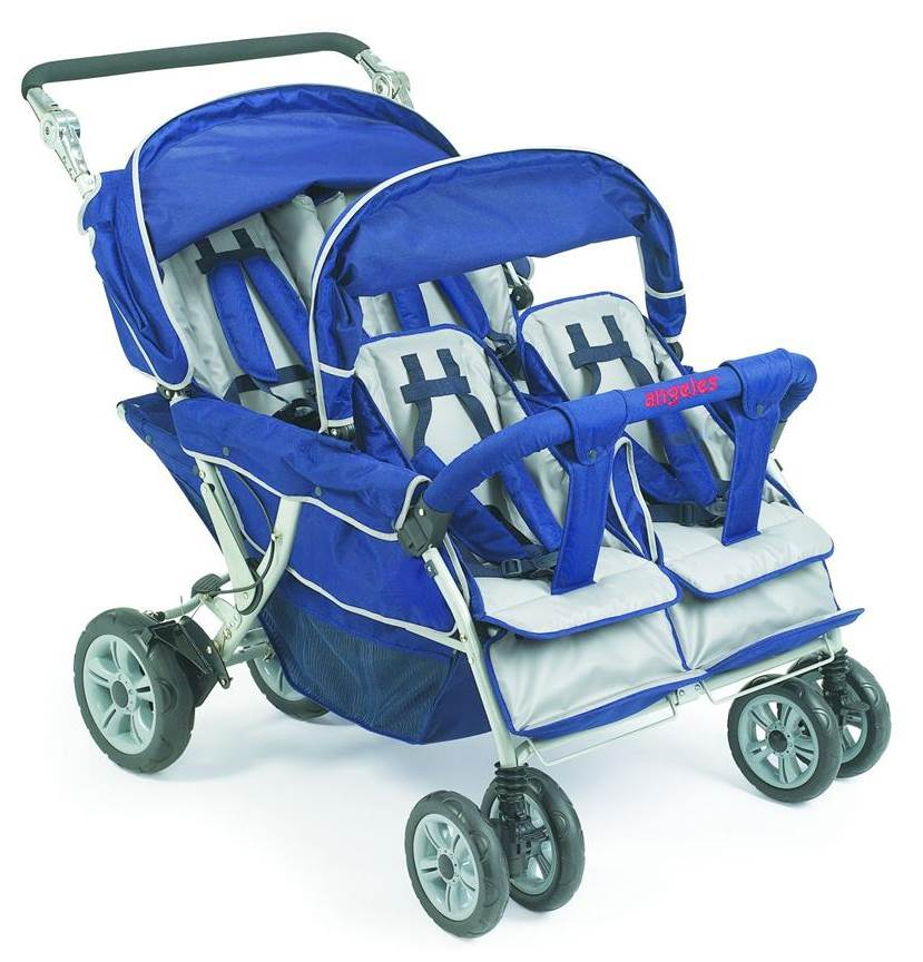 Angeles Group 4-Passenger Folding Stroller