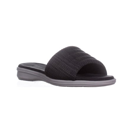 Aerosoles Great Call Wedge Slide Sandals, Black Combo - image 6 de 6