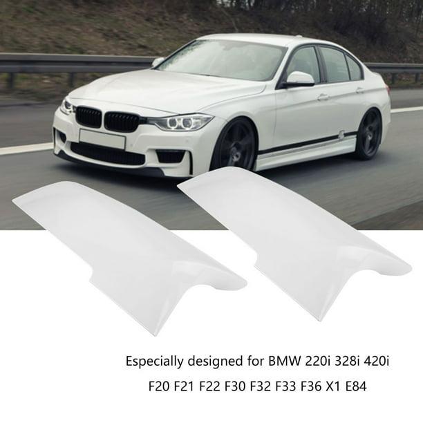 Car Rearview Mirror Cover Fit for BMW 220i 328i 420i F20 F21 F22 F30 F32 F33 F36 X1 EVGATSAUTO Replacement Mirror Cap Glossy Black