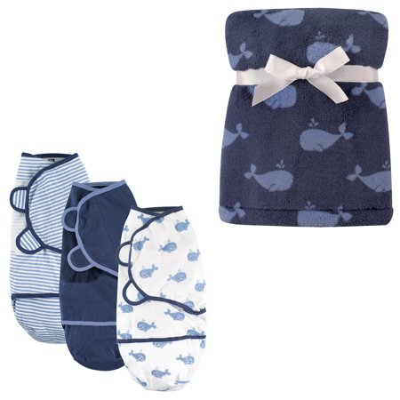Hudson Baby Boys And Girls Swaddle Wrap 3 Pack And