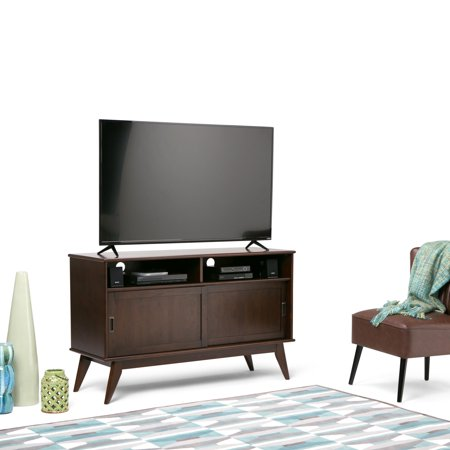 cheaper 7911a b361d WyndenHall Tierney Solid Hardwood 54 inch wide Mid Century Modern TV Media  Stand For TVs up to 60 inches