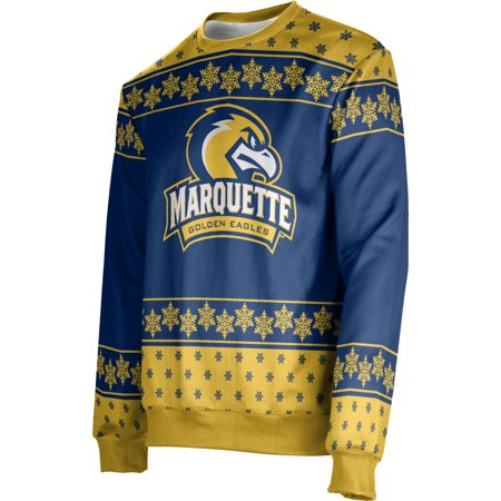ProSphere Men's Marquette University Ugly Holiday Snowflake Sweater - Holiday Snowflake Sweater