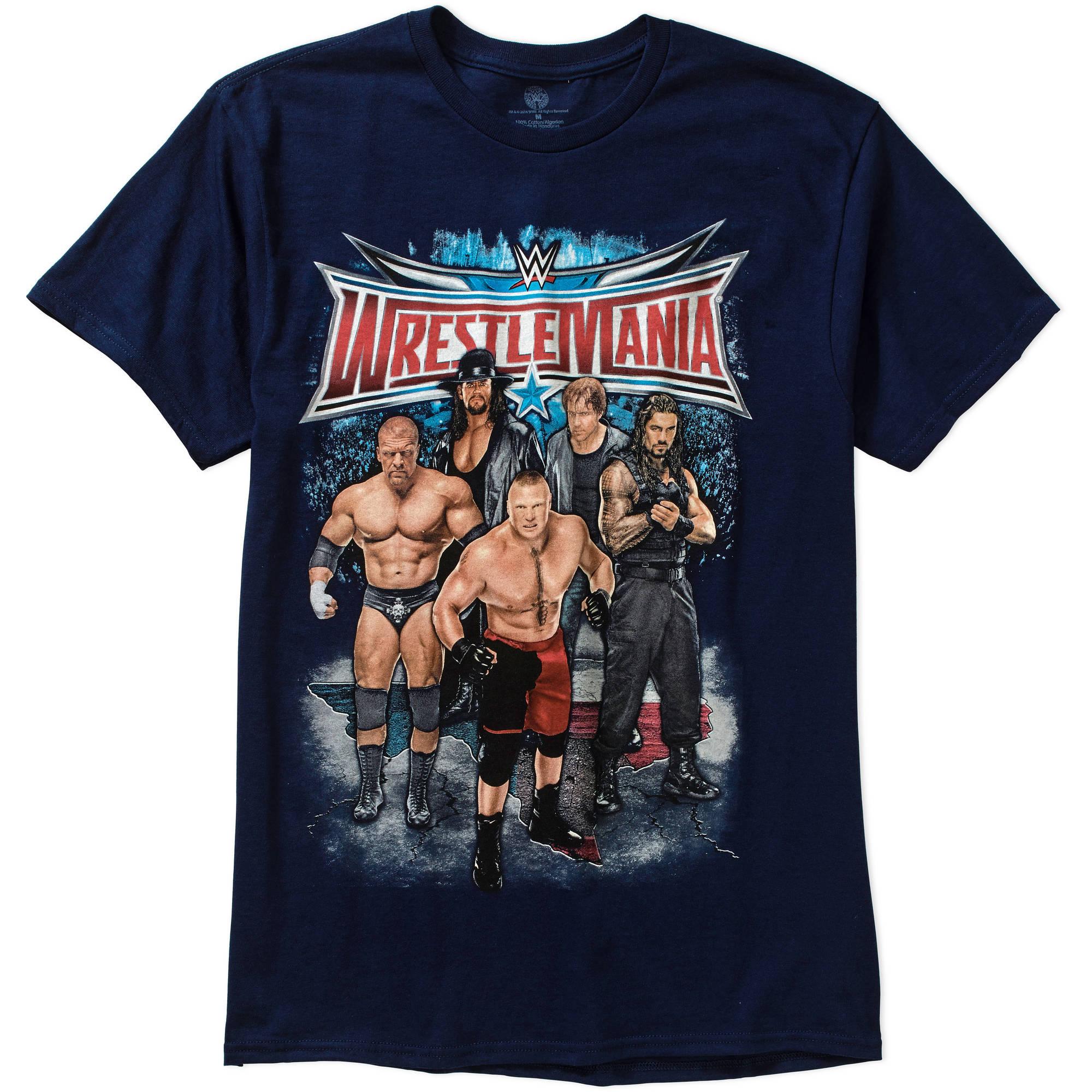 Wrestlemania Group Shot Big Men's Graphic Tee, 2XL
