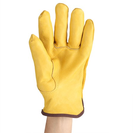 LYUMO 1Pair 2 Layers Leather Gloves Working Protection Gloves Garden Labor Gloves Gardening, Gardening Gloves, Working Protection Gloves - image 6 of 8