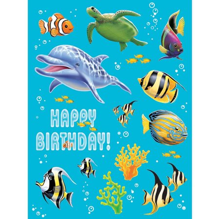 Creative Converting Ocean Party Value Stickers