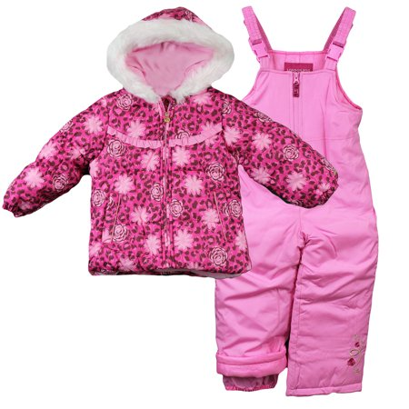dda8b61ea London Fog - London Fog Little Girls Winter Snowsuit Jacket and Snow ...