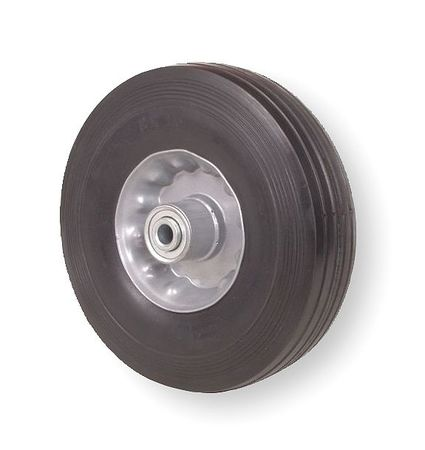 Solid Rubber Wheel,6 in.,200 lb.,Offset ZORO SELECT 1NXB5