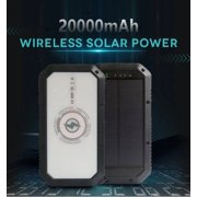 """Happyline"" 2019 Trending Product Solar Power Bank Wireless Charging 20000mAh Solar QI Charger LED Flash Light Wireless Power Bank"