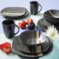 Better Homes & Gardens Bazaar Dinnerware, Brown, Set of 16