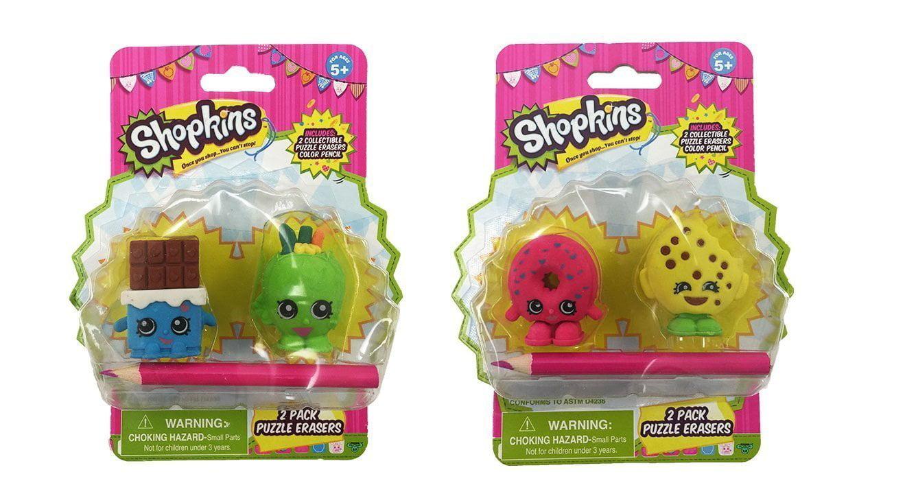 8 Erasers Total New Shopkins Eraser Bundle