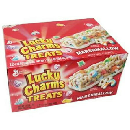 Product Of General Mills Treat Bar, Lucky Charms Treats Marshmallow, Count 12 (1.7 oz) - Granola/Cereal/Oat/Brkfast Bar / Grab Varieties & Flavors (Marshmallow Christmas Treats)