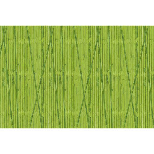 Green Bamboo Patterned Flat Paper