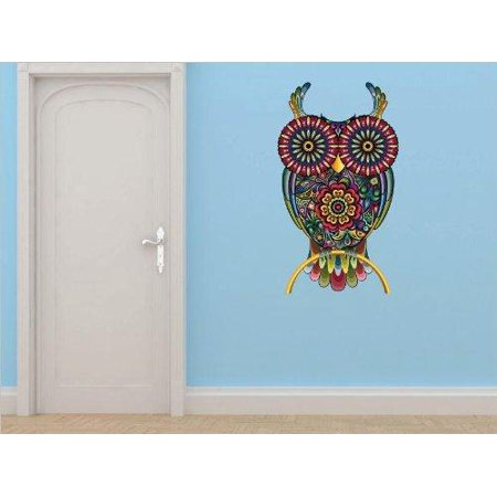 Custom Designs Multi Colored Owl Wild Bird Strigiformes 12 X24