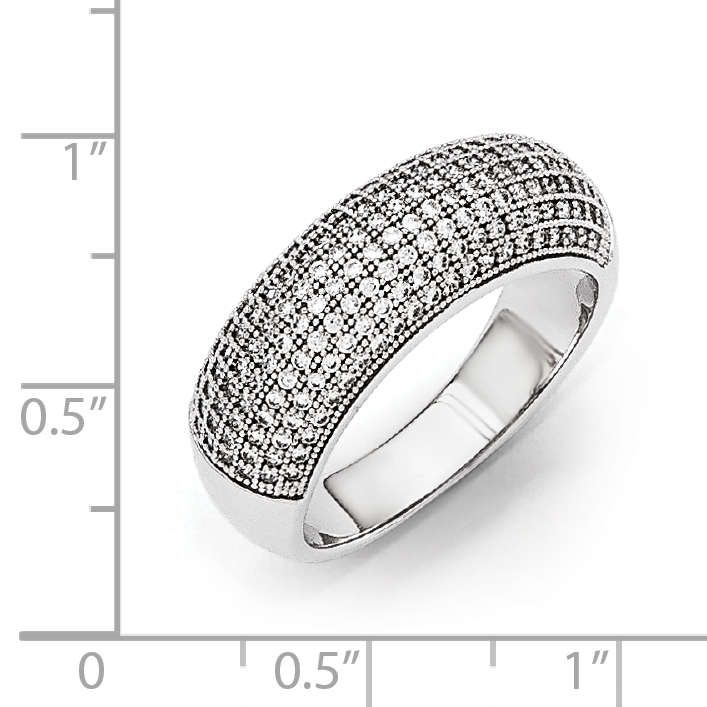 925 Sterling Silver Cubic Zirconia Cz Band Ring Size 7.00 Fine Jewelry Gifts For Women For Her - image 1 de 3